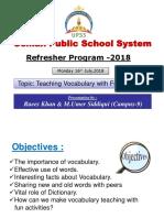 Refresher 2018 English Workshop