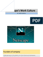 Netscape's Work Culture