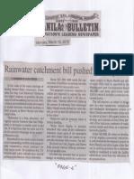 Manila Bulletin, Mar. 18, 2019, Rainwater catchment bill pushed in Congress.pdf