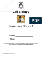 Unit 1- Cell Biology Summary Notes