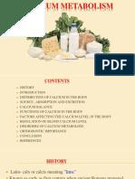 5) Calcium Metabolism