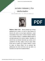 El fascismo rumano y los intelectuales | Biblioteca Evoliana