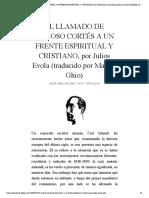 EL LLAMADO DE DONOSO CORTÉS A UN FRENTE...por Marcos Ghio) | Biblioteca Evoliana