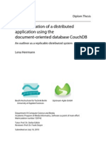 Implementation of a distributed application using the document-oriented database CouchDB