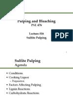Sulfite Pulping