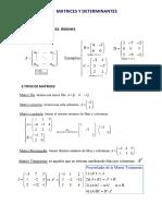 Matemática Matrices Resumen