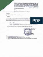 Undangan Rapat Persiapan Penandatanganan Kontrak Pekerjaan Penanganan Longsoran Jalan Labuan - Maligano