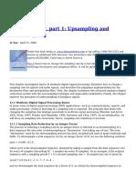 Multirate DSP Part 1 Upsampling and Downsampling