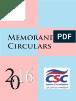 CSC Circular