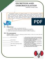 Excretion and Osmoregulation - Module