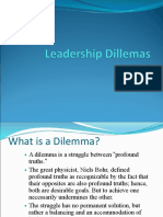 Leadership Dilemmas