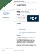 File Upload Class Web Controls)