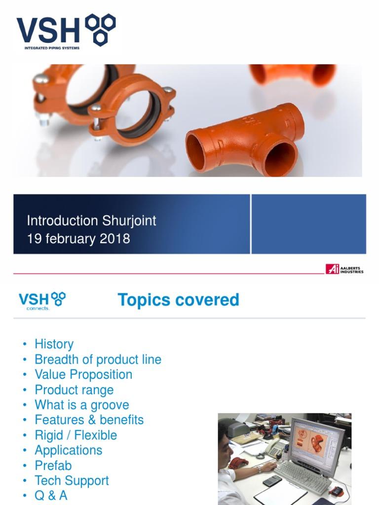 VSH Shurjoint presentation 2018 pdf | Pipe (Fluid Conveyance) | Plumbing