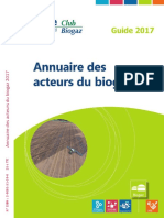 Annuaire Biogaz 2017 Sur Le Site