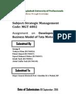 Proposed Business Model of Tata Motors in Bangladesh