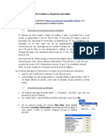 Modelare a Dispersiei Poluanţilor Cu Aplicatia ALOHA