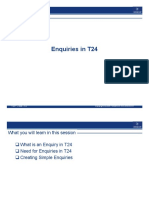 Enquiry T24
