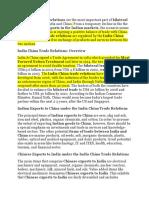 India China Trade Relations