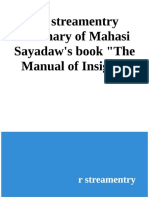 A R_streamentry Summary of Mahasi Sayadaw's the Manual of Insight - R_streamentry (2)