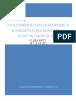 Procedimiento Para La Adopcion de Guias de Practica Clinica