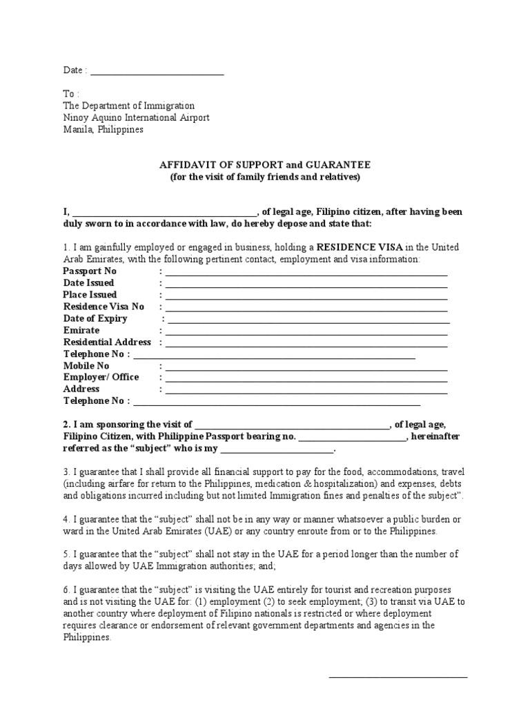 Affidavit of support altavistaventures Gallery