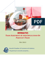 DW KCCI Trade Agreements of Pakistan May 2013