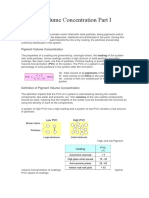 Pigment Volume Concentration