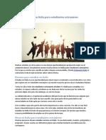 Becas en Italia Para Estudiantes Extranjeros