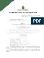 Lei N° 73 de 1993 - Advocacia Geral da União (Lei Complementar)