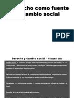 Cambio Social y Derecho