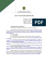 Lei N° 7347 de 1985 - Ação Civil Pública
