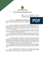 Lei N° 9020 de 1995 - Defensoria Pública da União