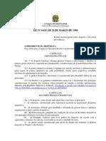 Lei N° 9615 de 1998 - Pelé ou dos Desportos