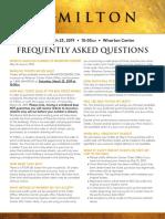 Hamilton at the Wharton Center FAQs