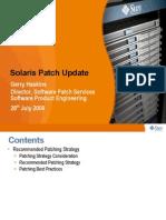 Solaris Patch Update Cust July2009