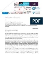 Joint NGO Letter EU China Human Rights