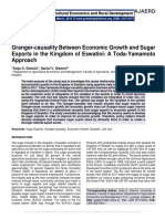 Granger-causality Between Economic Growth and Sugar Exports in the Kingdom of Eswatini