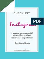 Clecklist Instagram Explosivo Jéssica Ferreira