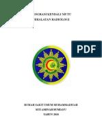 Program Kendali Mutu Peralatan Radiologi