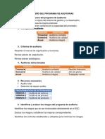 Diseño Del Programa de Auditorias