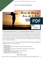 Teresa de Jesús y Juan de la Cruz, testigos de esperanza
