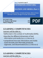 Media and Information Literacy Mil Text Information and Media Part 1