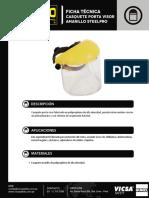 Casquete Porta Visor Steelpro Ficha Técnica