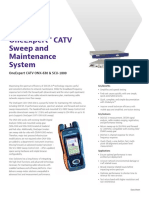 Oneexpert Catv Sweep and Maintenance System Data Sheets En