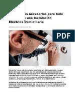 Los 8 Pasos Necesarios Para Todo Cálculo de Una Instalación Eléctrica Domiciliaria