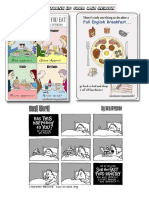HANDY THEMATIC COLLECTION of Cartoons, Vocabulary, Conversation Questions and Essay Topics Part10 FOOD and HEALTH