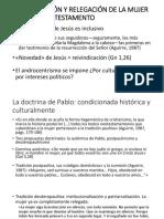 Reivindicación y relegación de la mujer en el NT.pptx