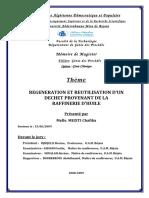 Regeneration et reutilisation d'un dechet provenant de la reffinerie d'huile.pdf