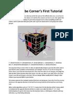 Rubiks Cube Corners First Tutorial