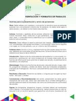 NORMAS DE PRESENTACIÓN Y FORMATOS DE TRABAJOS